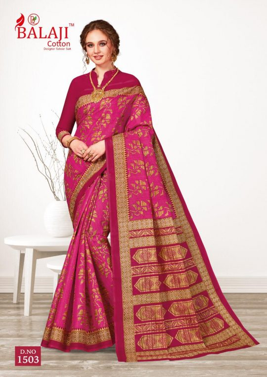 Balaji Cotton Leelvathi Vol 5 Saree