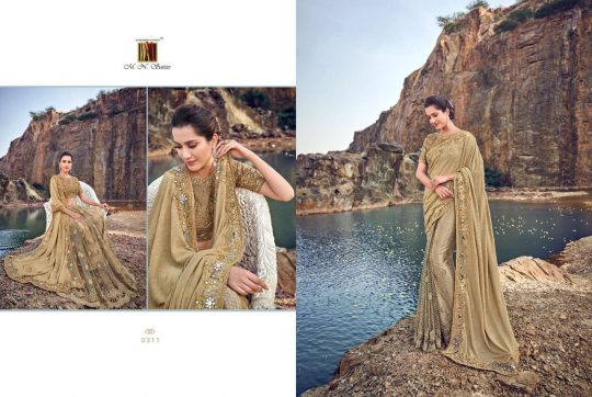M N SWAROVSKI HEAVY WEDDING COLLECTION SAREE