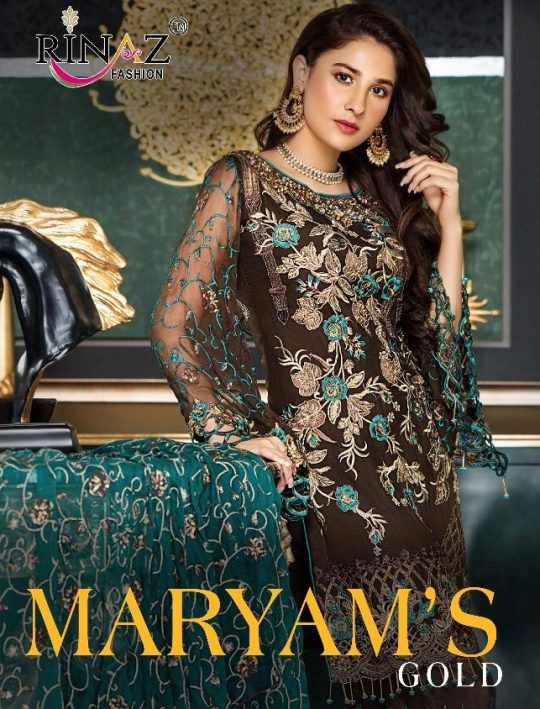 Rinaz Fashion Maryams Gold Salwar Kameez