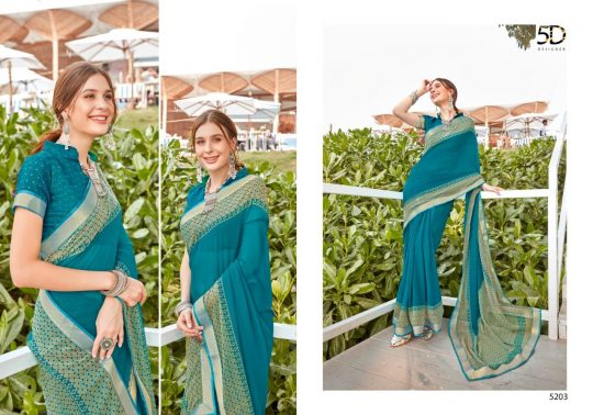 5d Designer Mohini Vol 3 Saree