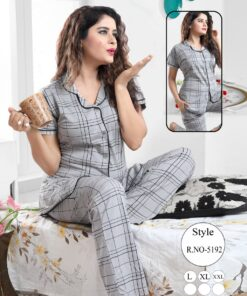 Kavyansika Front Button Night suit
