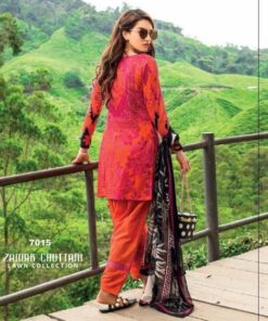RED ZAINAB CHOTTANI LAWN PAKISTANI SUITS