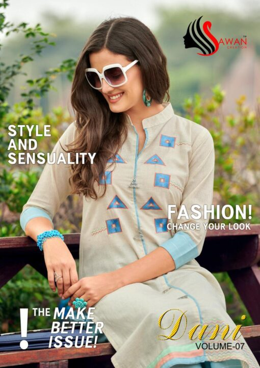 Sawan Creation Dani Vol 7 Kurti with Plazzo
