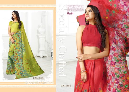 Tfh Ruchi Raaga Georgette Vol 4 Saree
