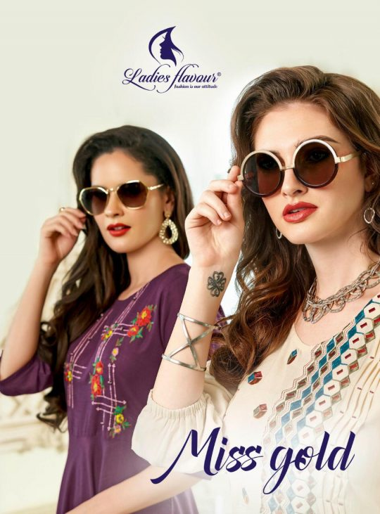 Ladies Flavour Miss Gold Kurti