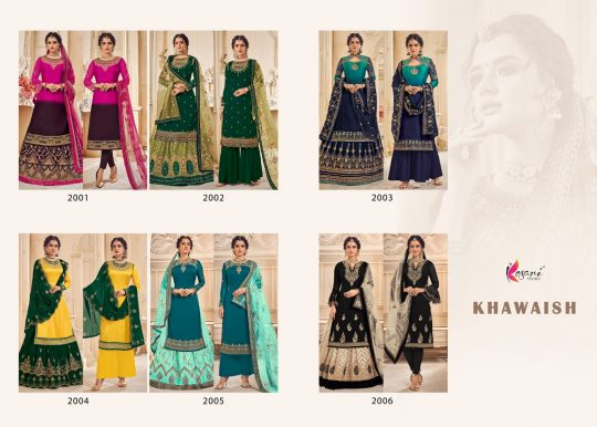 Kesari Trendz Khawaish Vo 1 Hello Dear customer Now volume KHAWAISH VO 1 Febric - Top - Real Georgette/ satin Georgette with emboidery work with daimand Duppta- Real Georgette with buterfully net with HEVEY emboidery work LEHANGA - Real Georgette with buterfully net with santoon inner *(LEHANGA) full stich with hevey emboidery & daymand Bottom =dull santon 2in 1 Inner =dull santon Price - 2499/-Gst extra Design -6 Set to set