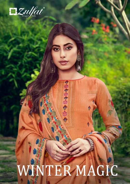 Zulfat Designer Suits Winter Magic Vol 6