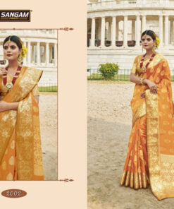 RED STONE sangam Saree