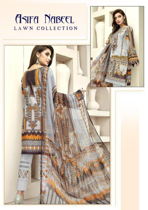Asifa Nabeel Lawn Collection Vol 4 Pure Cambric Lawn Dress Material